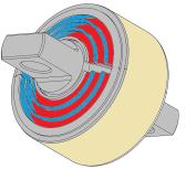 Articulation élastique antiroulis