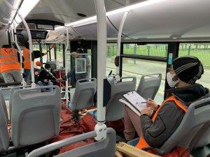 Tests dynamiques : intérieur du bus